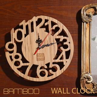 [HOT] Đồng hồ gỗ tre treo tường trang trí khắc CNC - đồng hồ treo tường hình chữ số [ROCHELLIO/Number]