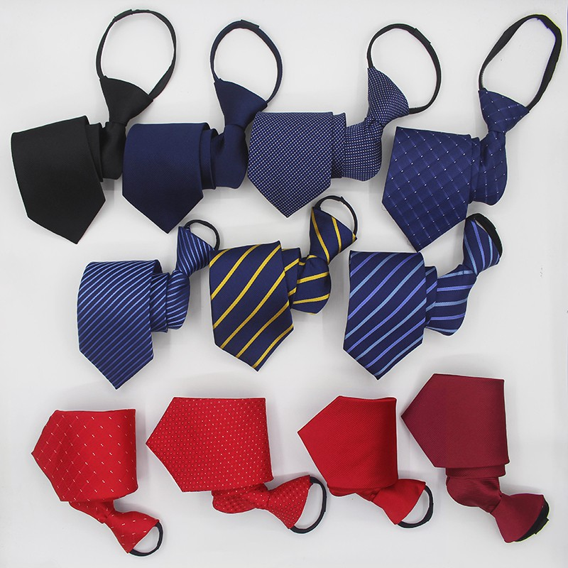 Cà vạt nam dây kéo thắt sẵn với chất liệu silk lụa cao cấp tạo nên vẻ sự sang trọng cho nam giới
