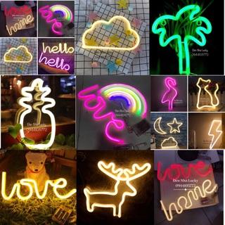Yêu ThíchĐèn Neon Light trang trí phòng ngủ cực dễ thương ( nhiều mẫu lựa chọn)