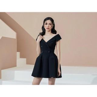 Đầm thiết kế / Đầm xoè cổ vest Yori