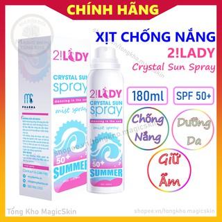 [CHÍNH HÃNG] Xịt chống nắng 2!Lady Crystal Sun Spray 180ml