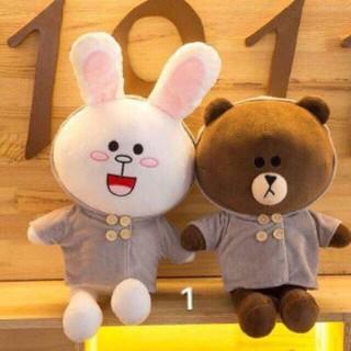 Cặp đôi gấu Brown và thỏ Cony chất mềm mịn lắm