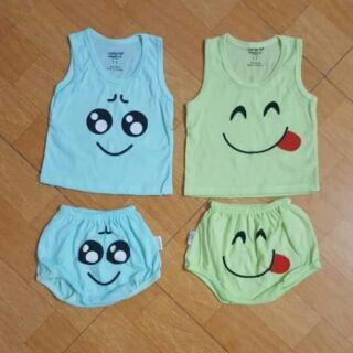 Set 5 Bộ quần áo ba lỗ cho bé, bộ quần áo cộc tay cho bé, bộ cộc tay cho bé, bộ cảm xúc cho bé