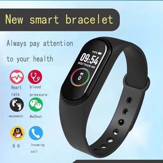 New M4 smart bracelet sports fitness tracker pedometer heart rate blood pressure Bluetooth Smartband IOS Android