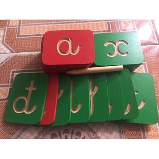 Bộ đồ chơi gỗ bé yêu tập viết chữ cái Tiếng Việt