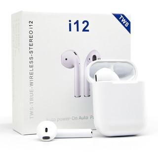 Tai Nghe Bluetooth Không Dây Nhét Tai i12s [bảo hành 1 đổi 1] Cho Điện Thoại IOS Và Android