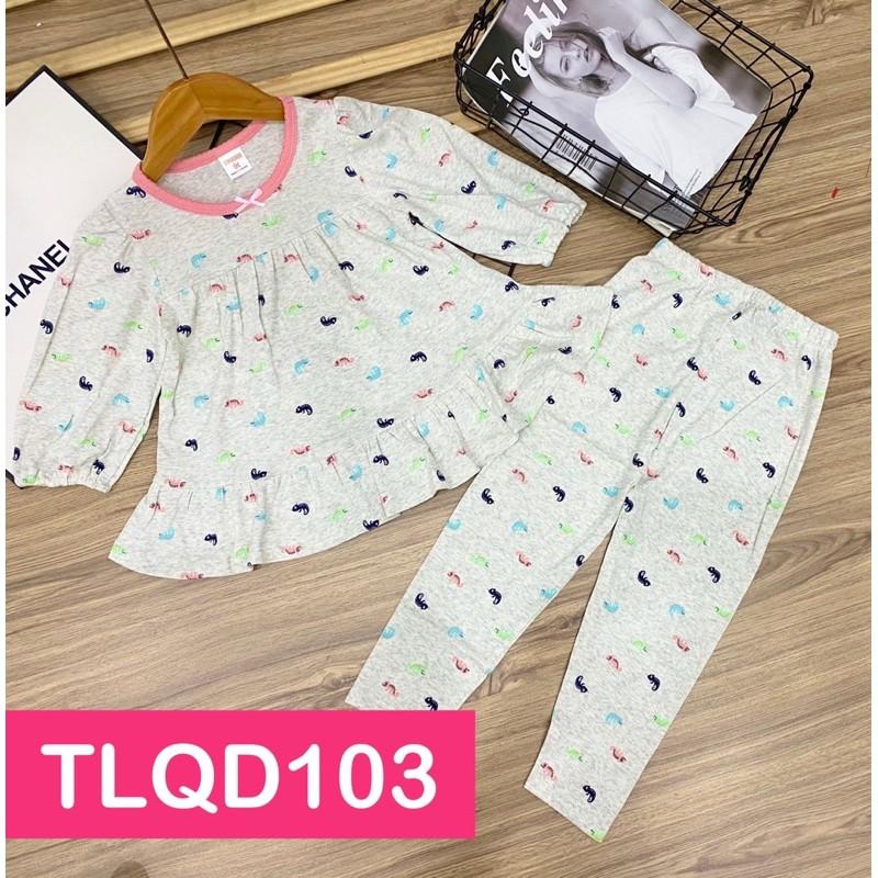 Bộ babydoll tay lửng quần dài thun borip VNXK size đại cho bé gái 22 đến 40kg - Bộ quần áo trẻ em