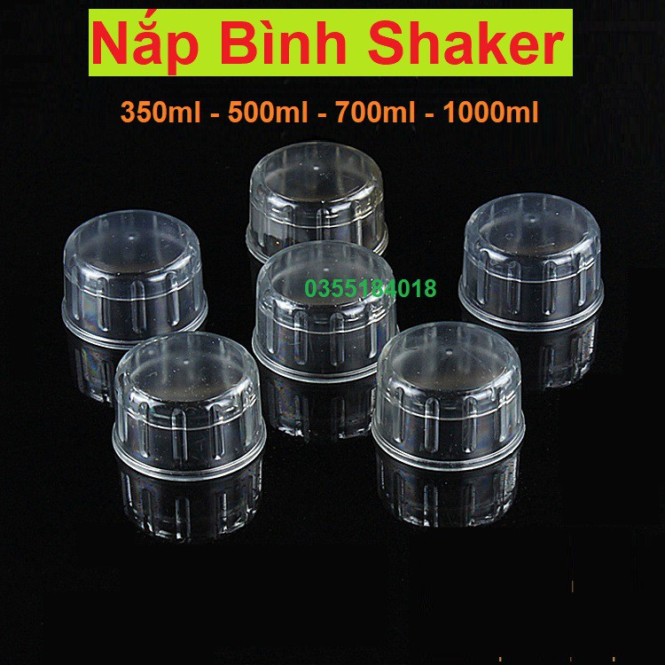 Nắp bình lắc shaker pha chế trà sữa cỡ bình 350ml - 500ml - 700ml - 1000ml