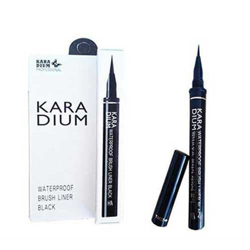 Bút kẻ mắt nước đầu lông Karadium Waterproof Brush Liner Black