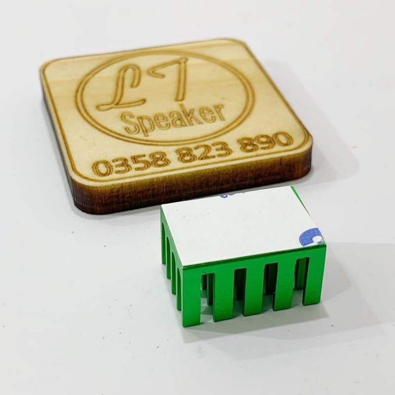 Nhôm tản nhiệt có sẵn keo 14x14x8mm