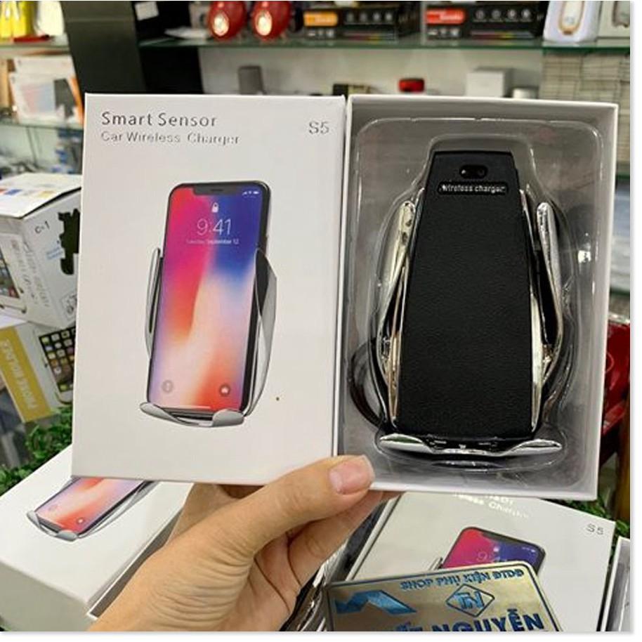 Sạc không dây Magic S5 kiêm giá đỡ điện thoại Tự Động Cảm ứng
