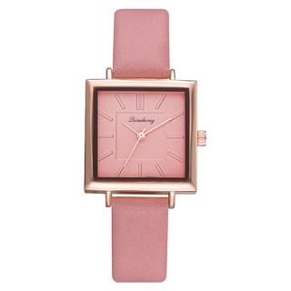 Đồng hồ đeo tay thạch anh dây da sang trọng dành cho nữ