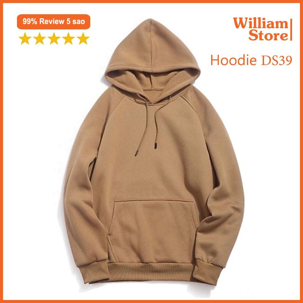 [FREESHIP_50K] Áo hoodie trơn nỉ PE Cacao giữ ấm tốt William - DS39