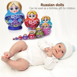 ✿READY STOCK✿10 Layer Wooden Russian Nesting Dolls Matryoshka Home Decor Ornaments Gift