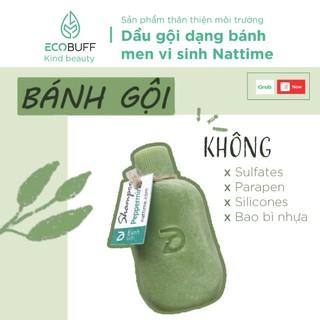 Dầu gội đầu thiên nhiên lành tính dạng bánh shampoo bar tinh dầu bưởi Nattime giảm tiết dầu, gãy rụng Handmade - Ecobuff