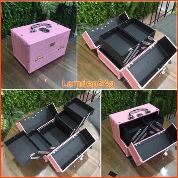 Hộp để đồ trang điểm, hộp đựng mỹ phẩm để bàn trang điểm cá nhân LS25 Lamdep24g