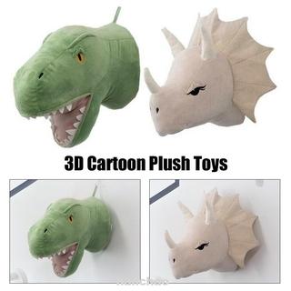 Cute Soft Wall Decor Birthday Gift Nursery Stuffed 3D Cartoon Animal Plush Toy
