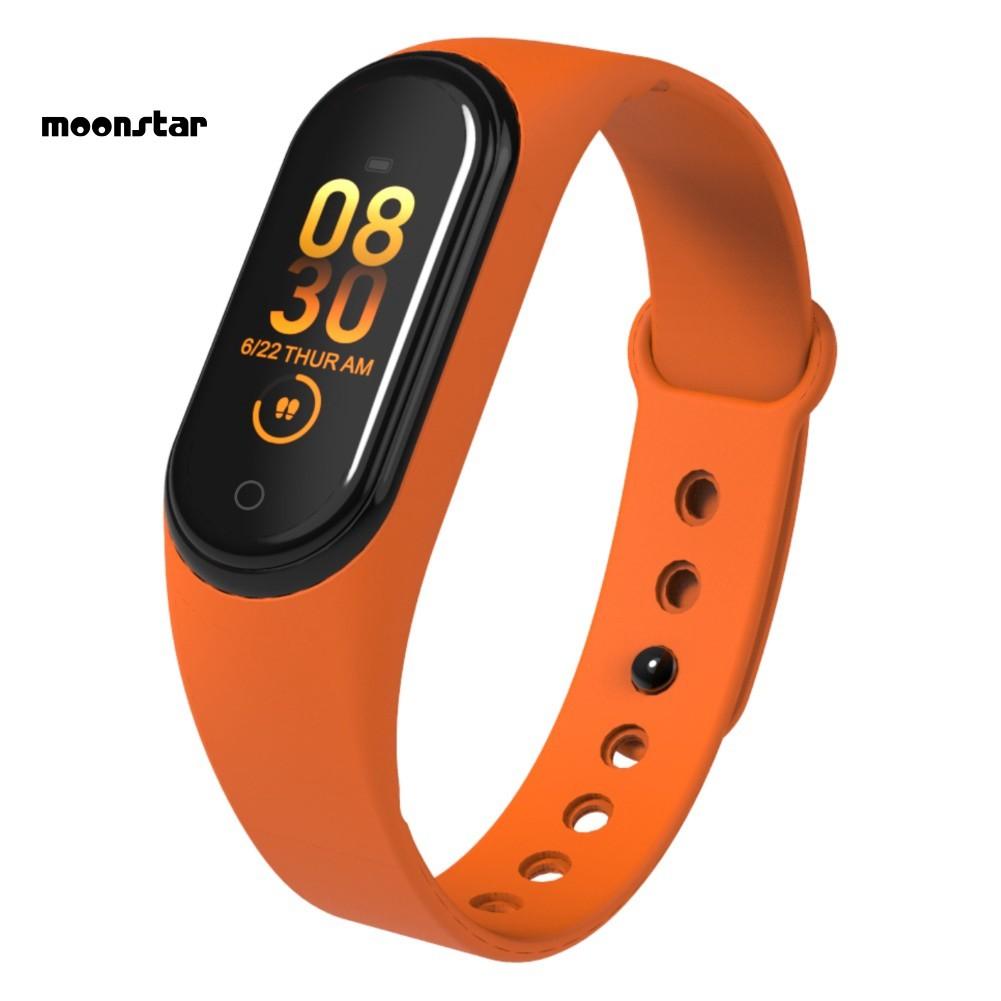Dây đeo tay thông minh MS M4 WK đo nhịp tim/ đếm bước đi tiện dụng tập thể thao