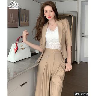 Set vest S5052 cao cấp chất đẹp màu nâu tây cực sang - The Queen Fashion - Đủ SANG Người Khác Sẽ Phải Ngước Nhìn thumbnail