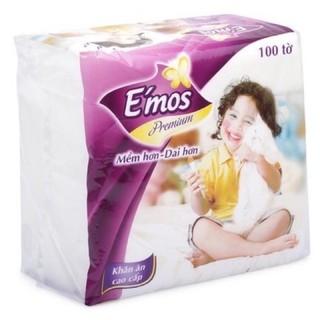 [ Freeship HCM ] Giấy ăn E'mos premium 330*330mm.siêu dai siêu mềm