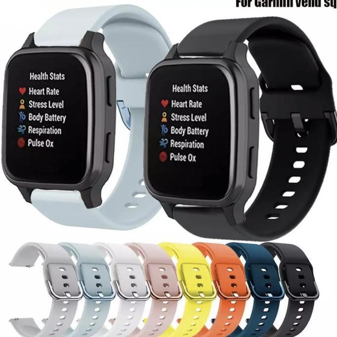 Dây đồng hồ đeo tay SILICONE RUBBER MODEL ACTIVE GARMIN VENU SQ 20MM