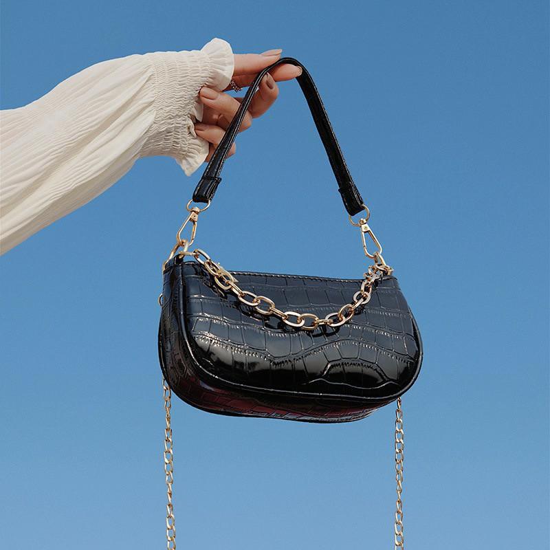 Túi kẹp nách Ngọc Trinh túi xách nữ đeo vai đeo chéo xách tay da vân cá sấu mẫu mới nhất TKNA02 + hình thật