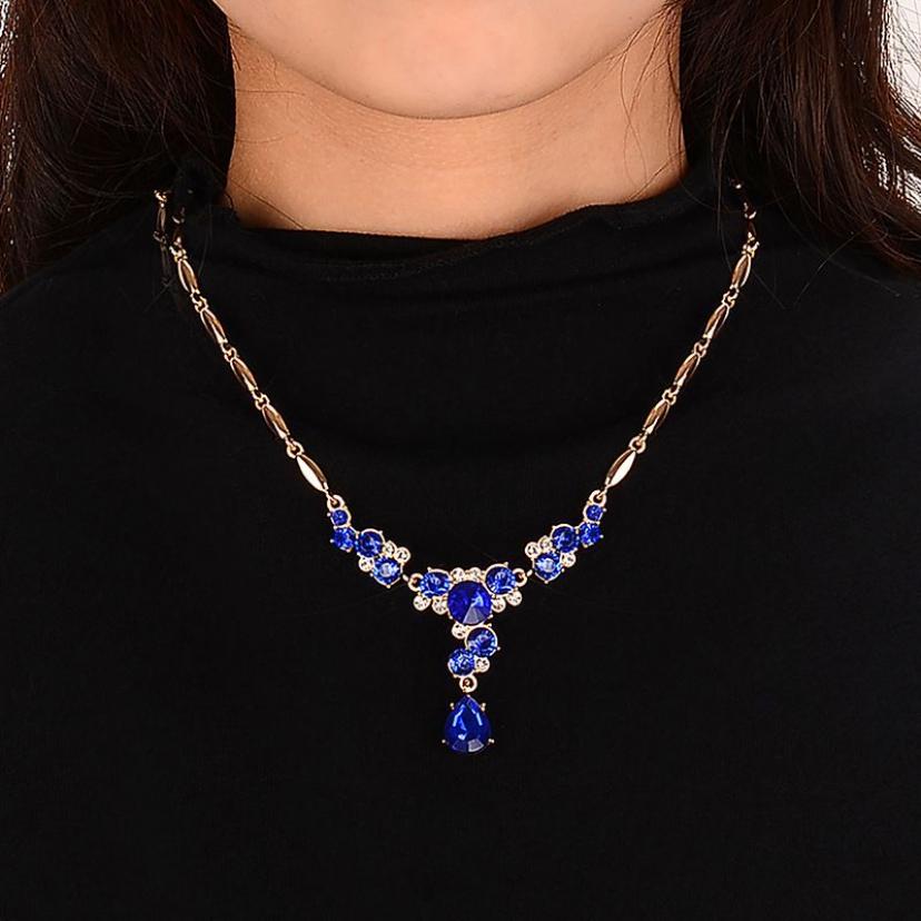 Blythe Elegant temperament inlaid crystal earrings jewelry set
