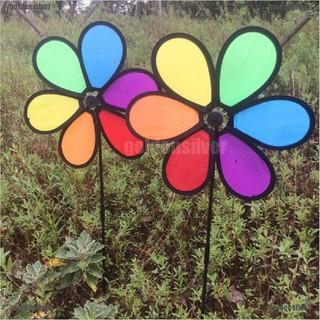 【GDS】Rainbow Wind Spinner Toy Ground Stake Outdoor Yard Garden Decor Spinner