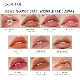 Hình ảnh FOCALLURE PLUMPMAX High Shine & Shimmer Lip Gloss 10 màu 3g 1pc-1