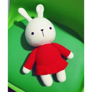 Thú len- thỏ váy đỏ siêu to