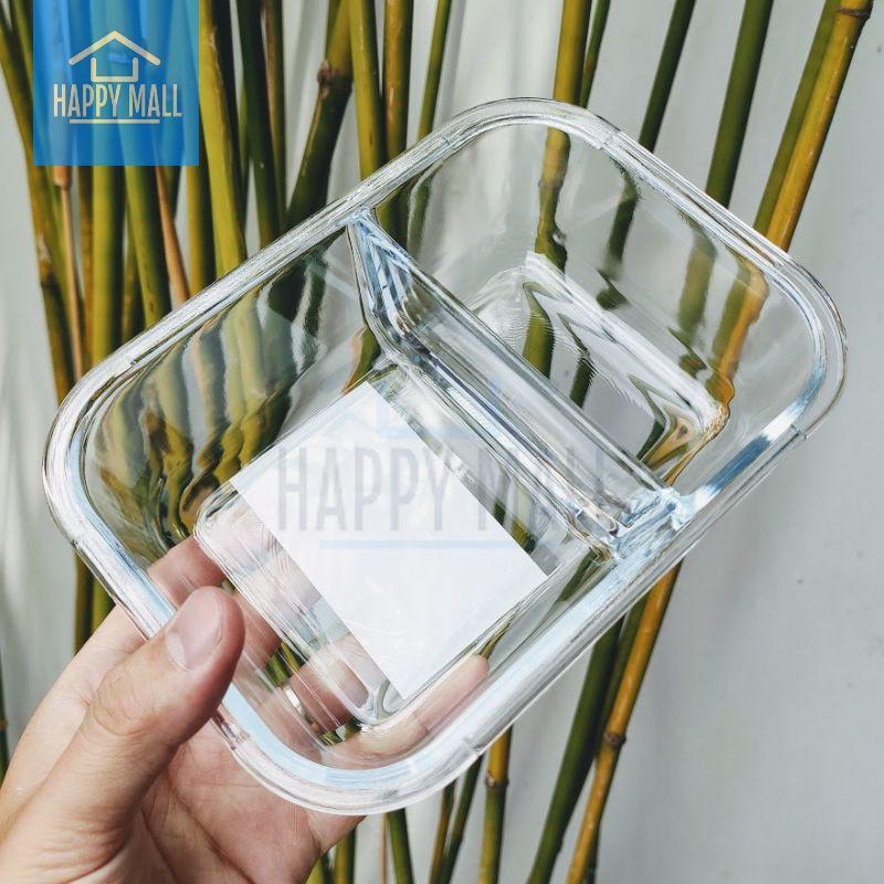Hộp thủy tinh chia ngăn Lock&Lock Glass Food Container dung tích 600ml/860ml/1040ml