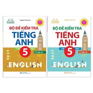 Sách - Combo Bộ đề kiểm tra tiếng Anh lớp 5 (trọn bộ 2 tập) có đáp án + Tặng Bút chì