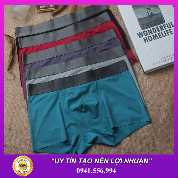 Sale - Bộ 10 Quần Lót Nam Vải Lụa Sữa Cao Cấp - Boxer Nam