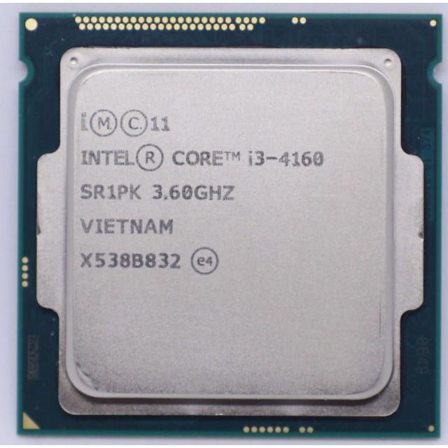 CPU i3 4160 (3M bộ nhớ đệm, 3.60 GHz) socket 1150 Giá chỉ 1.200.000₫