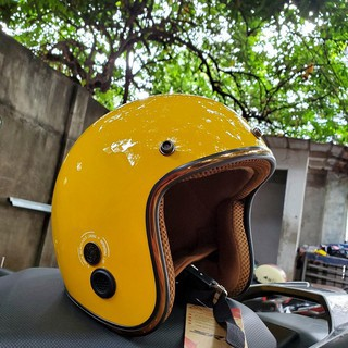 Mũ bảo hiểm 3/4 SRT - viền đồng - thông gió thoáng khí
