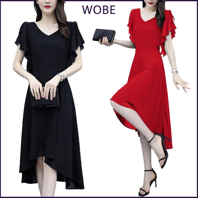 Mặc gì đẹp: Tung bay với Váy trung niên đẹp, dáng xòe sang trọng, che khuyết điểm tốt, vải Voan Pháp thoáng mát - Mã L163 - WOBE