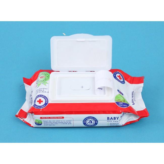BỊCH KHĂN GIẤY ƯỚT BABY WIPES 80G, hộp khăn ướt mini cho trẻ em bé, khăn thơm chùi tay lau mặt