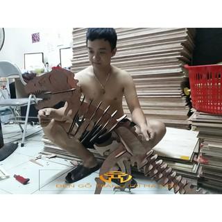 Mô hình khủng long bạo chúa 3D bằng gỗ tự lắp ghép [ Độc quyền]