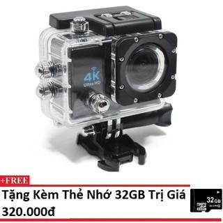 Camera hành động Waterproof 4K Sports WIFI LED 4K ULTRA HD DV (Đen)+Tặng thẻ nhớ 32GB thumbnail