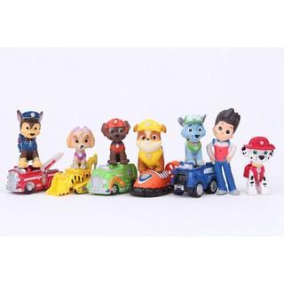 Mô hình đồ chơi 12 món Biệt đội chó cứu hộ 6 chó 5 xe độc đáo