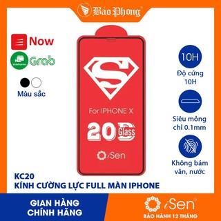 Kính cường lực full màn hình iPhone các đời Model iSen KC20 IP 6 7 8 Plus x xs max 11 12 Pro samsung oppo xiaomi vsmart thumbnail