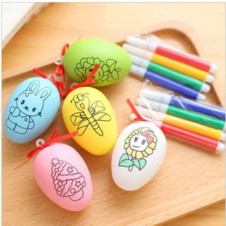 Đồ chơi quả trứng tô màu kèm 4 bút dạ tô màu