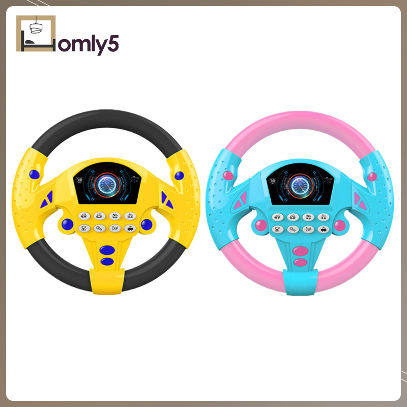 [Home Store]Simulated Steering Wheel for Kids Adventure Toy Education Toy Gift, Pink
