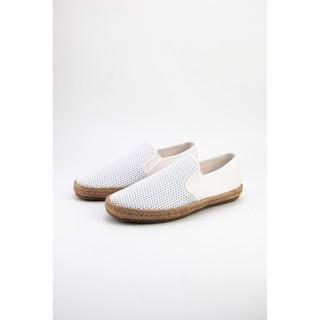GIày Lười Vải Cox Shoes White 831
