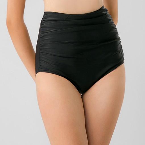 [Mã WABRM50 giảm 15% đơn 99k] BIKINI PASSPORT - Quần bơi Nữ lẻ Lưng cao nhún trước - Đen - BS234_BL
