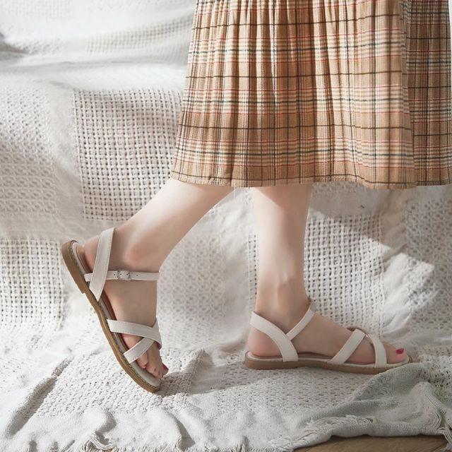 [CÓ SẴN] Sandal bệt quai chéo d