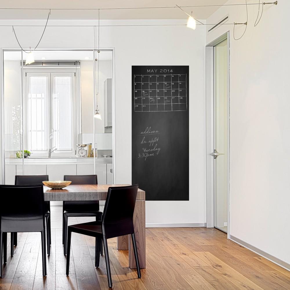 Decal bảng phấn dán tường+1 hộp phấn - Decal bảng trắng dán tường tặng kèm 1 cây bút lông bảng