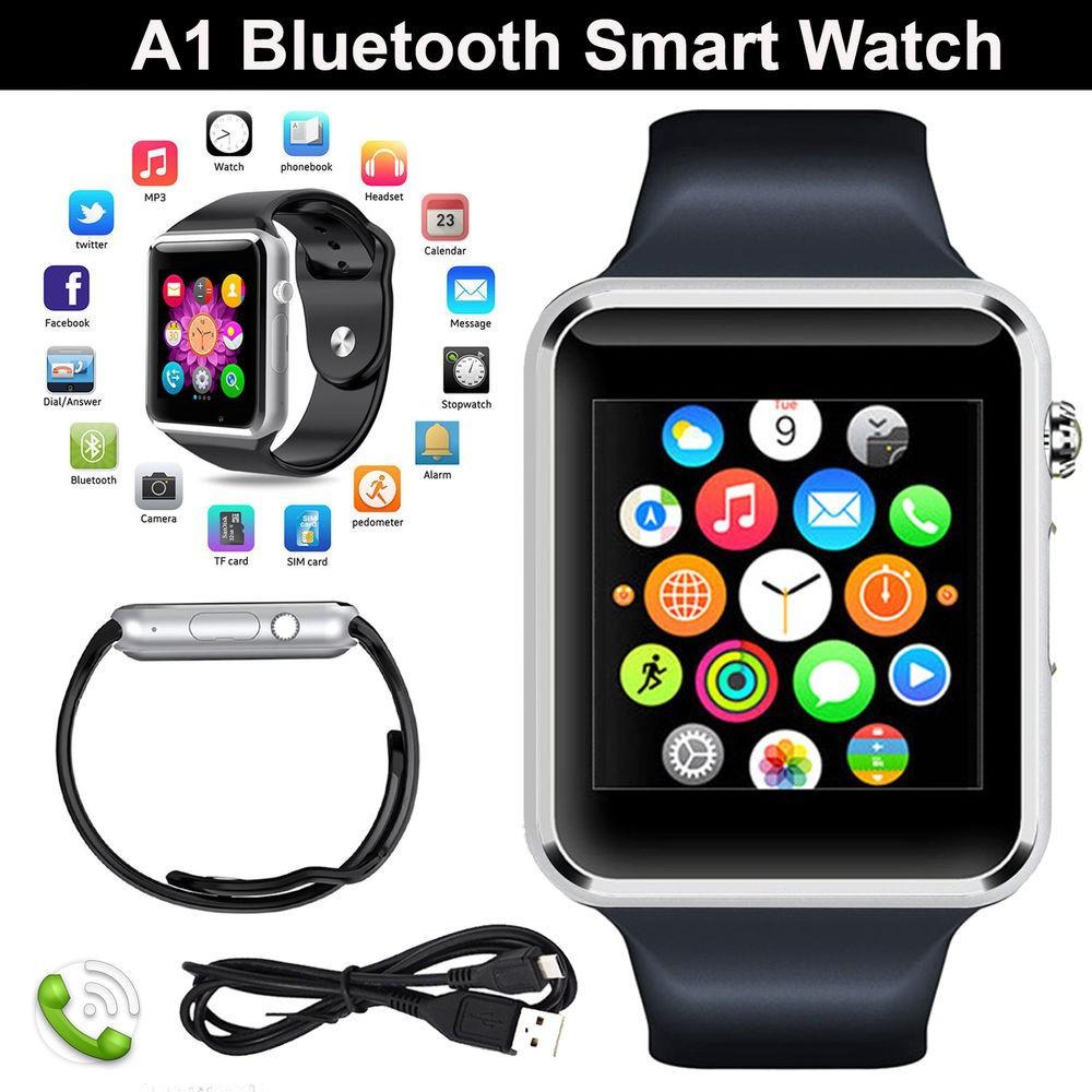 Đồng hồ thông minh W08 nghe gọi , gắn sim nghe nhạc như điện thoại màu đen viền bạc