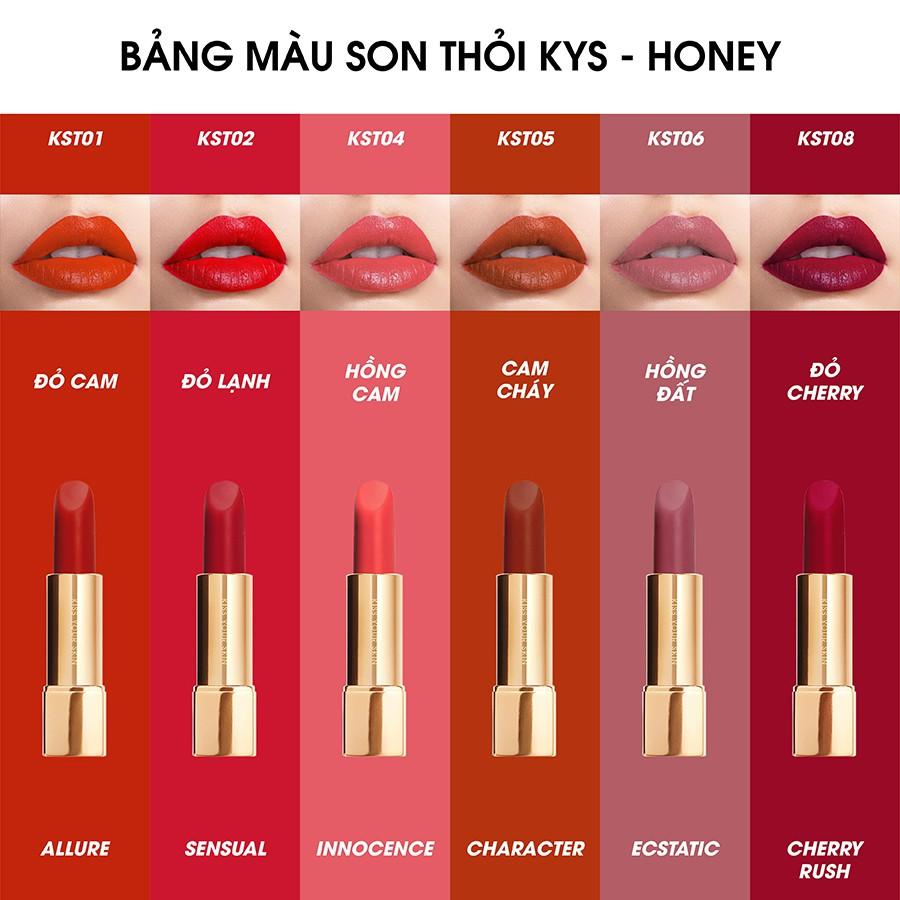 Son Lì Lâu Trôi Cherry Rush Chocolate Không Chì Kys Honey 4g | Shopee Việt  Nam