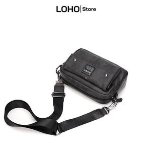 Túi đeo chéo da nam nữ thời trang Loho cao cấp mini phù hợp đi chơi đi làm đựng điện thoại [Lh4]